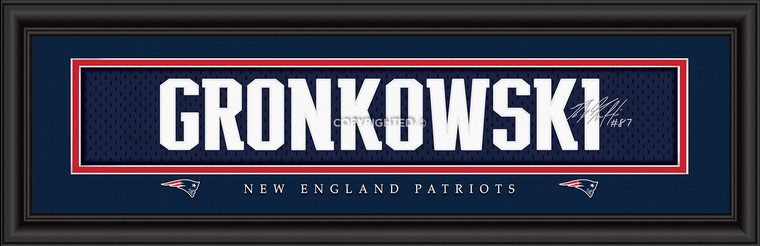 New England Patriots Print 8x24 Signature Style Rob Gronkowski Special Order