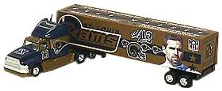St. Louis Rams White Rose Tractor Trailer - Team Mates Express - Kurt Warner - 2000