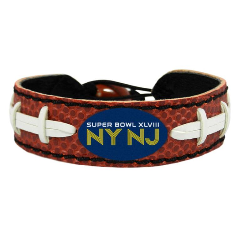 Super Bowl XLVIII NY NJ Logo Classic NFL Football Bracelet