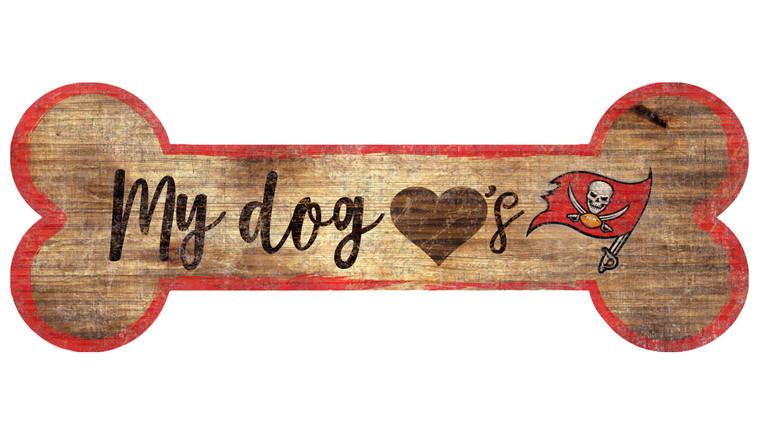 Tampa Bay Buccaneers Sign Wood 6x12 Dog Bone Shape Special Order
