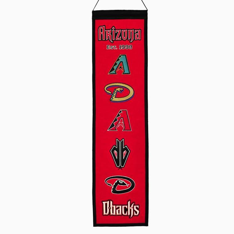 Arizona Diamondbacks Banner 8x32 Wool Heritage Special Order