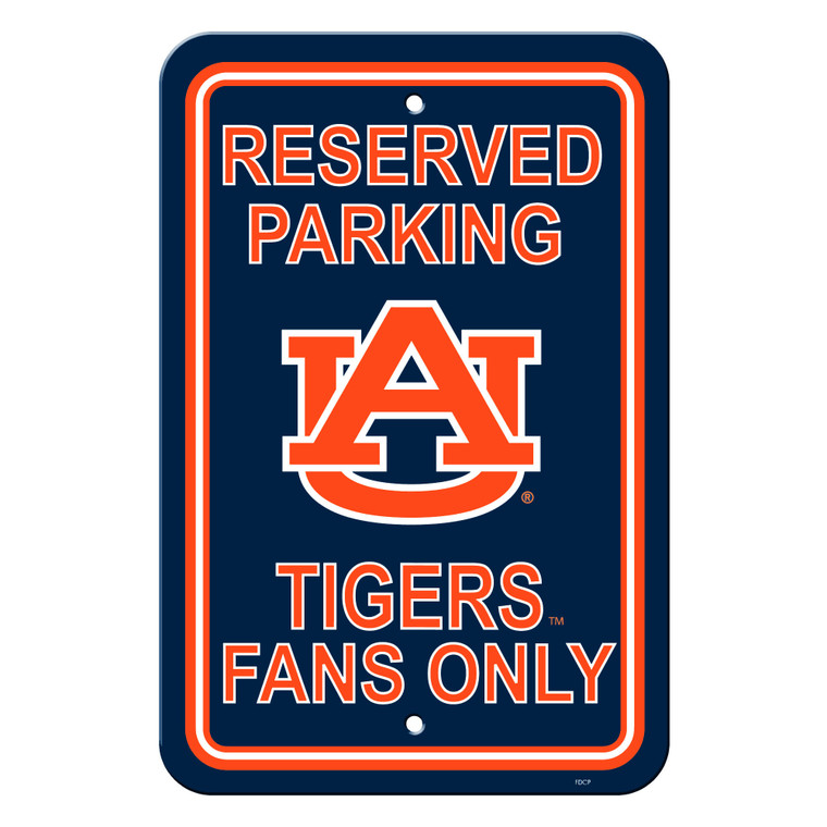 Auburn Tigers Sign 12x18 Plastic Reserved Parking Style Special Order
