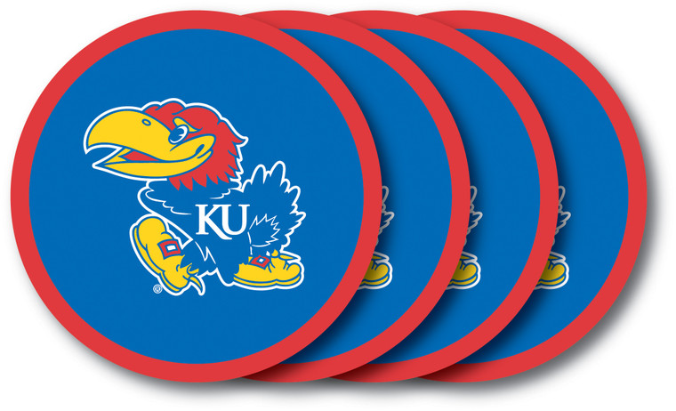 Kansas Jayhawks Coaster Set 4 Pack Special Order