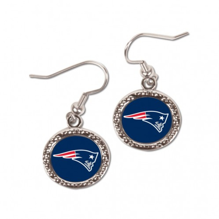 New England Patriots Earrings Round Style Special Order