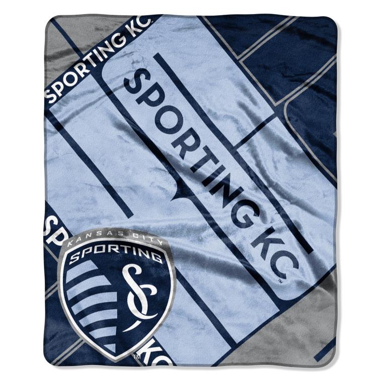 Sporting Kansas City Blanket 50x60 Raschel Scramble Design Special Order