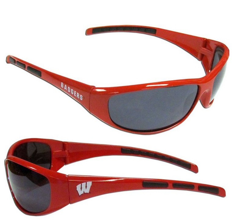Wisconsin Badgers Sunglasses Wrap Style Special Order