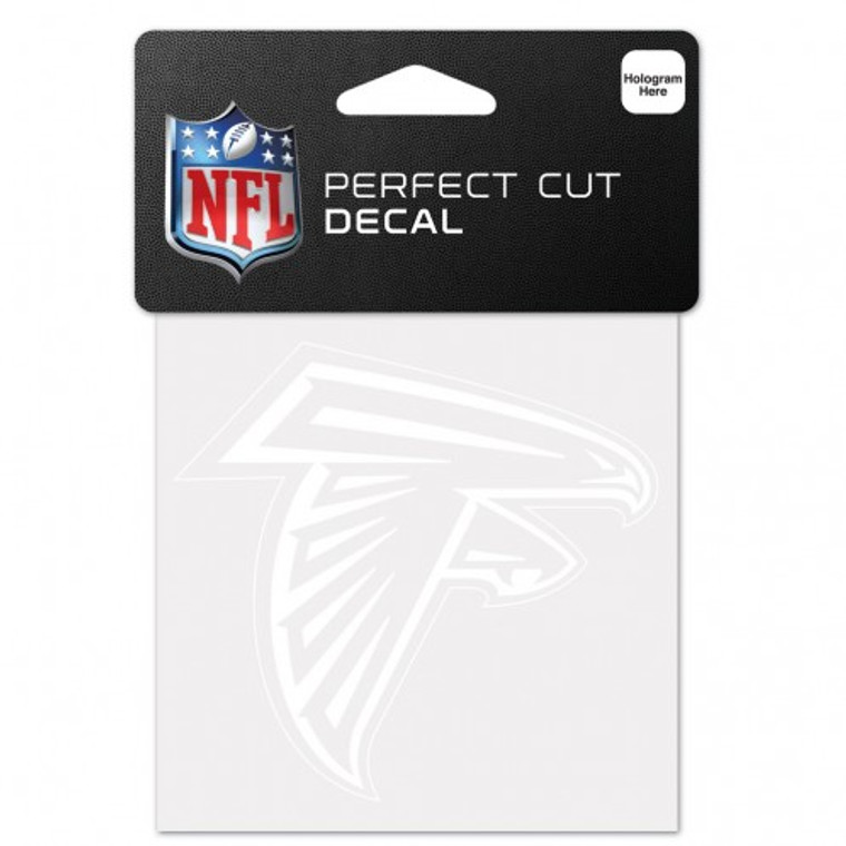 Atlanta Falcons Decal 4x4 Perfect Cut White