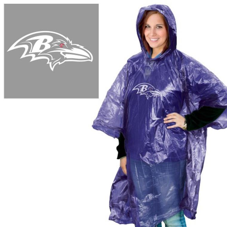Baltimore Ravens Rain Poncho