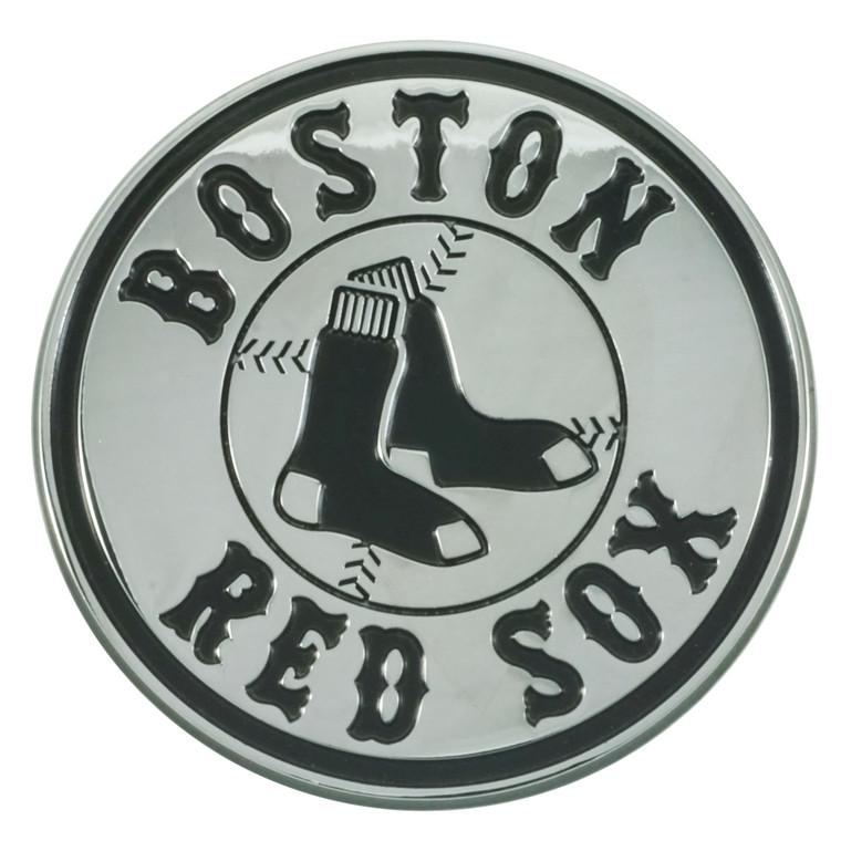 Boston Red Sox Auto Emblem Premium Metal Chrome