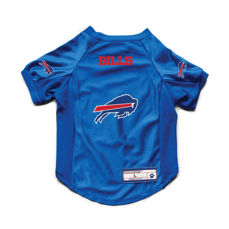 Buffalo Bills Pet Jersey Stretch Size L