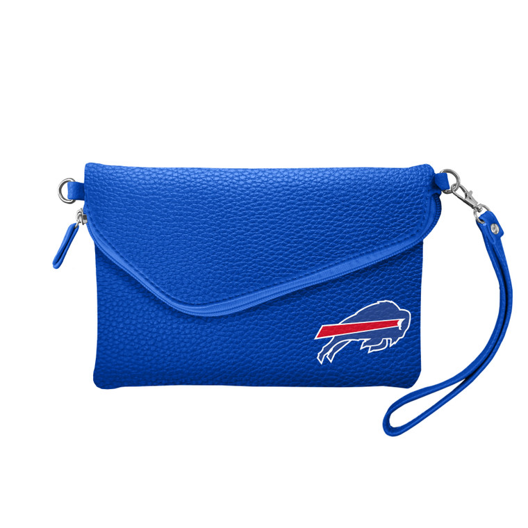 Buffalo Bills Purse Pebble Fold Over Crossbody Royal