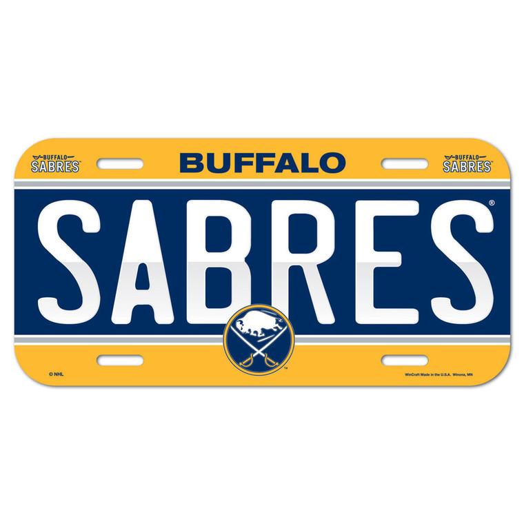 Buffalo Sabres License Plate Plastic