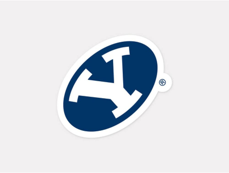 BYU Cougars Decal 4x4 Perfect Cut Color