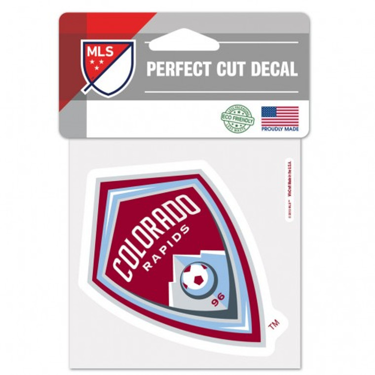 Colorado Rapids Decal 4x4 Perfect Cut Color