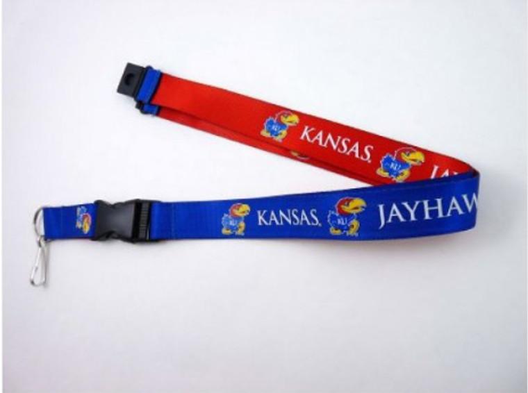 Kansas Jayhawks Lanyard Reversible