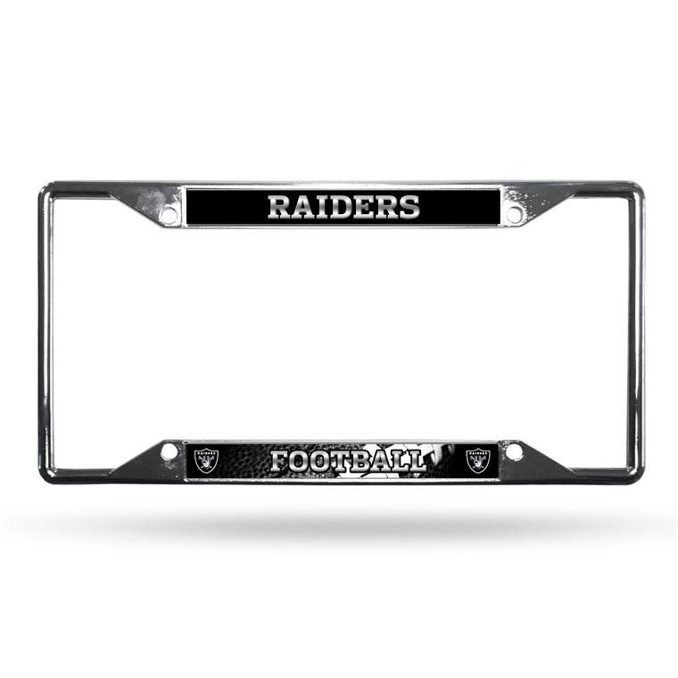 Las Vegas Raiders License Plate Frame Chrome EZ View Raiders Nation