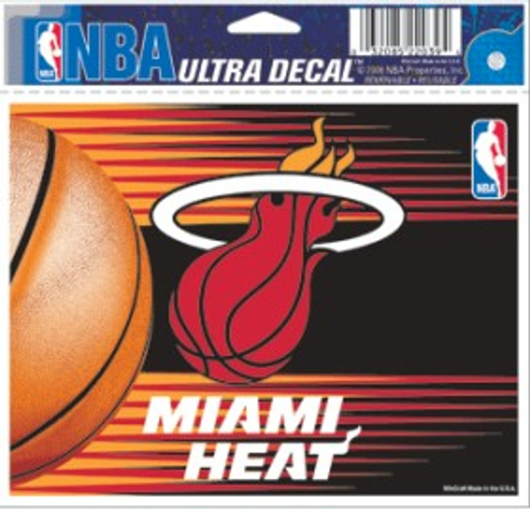 Miami Heat Decal 5x6 Multi Use Color