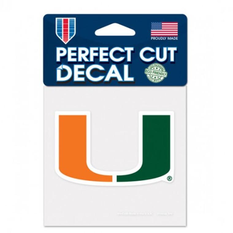 Miami Hurricanes Decal 4x4 Perfect Cut Color