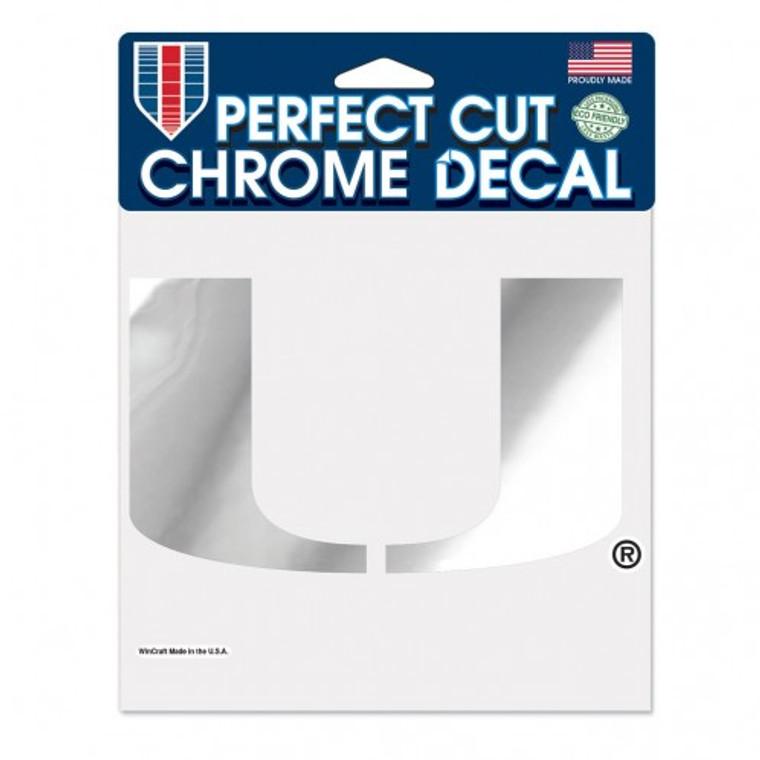 Miami Hurricanes Decal 6x6 Perfect Cut Chrome