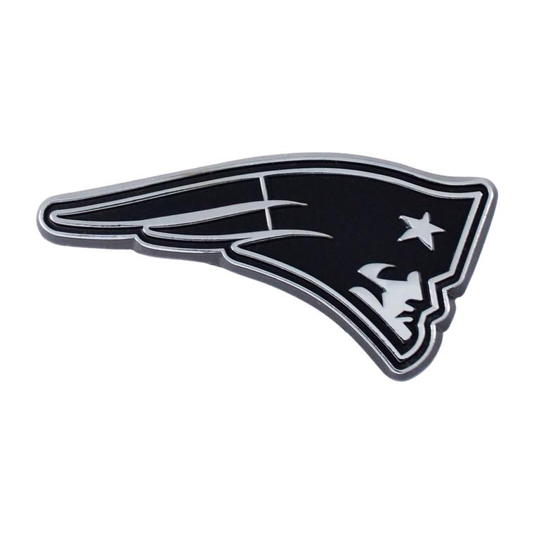 New England Patriots Auto Emblem Premium Metal Chrome