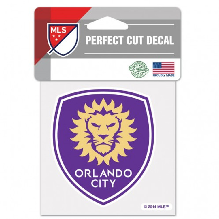 Orlando City SC Decal 4x4 Perfect Cut Color