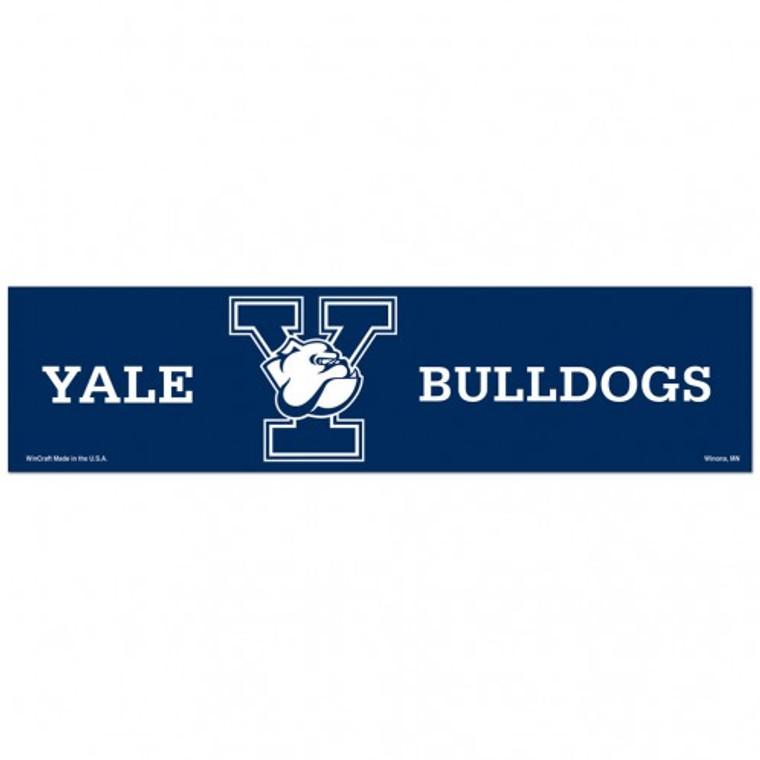 Yale Bulldogs Decal 3x12 Bumper Strip Style