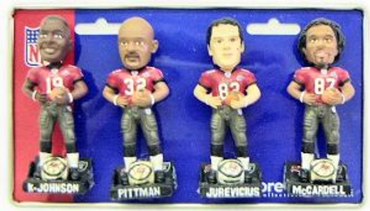 Tampa Bay Buccaneers Super Bowl 37 Champ Forever Collectibles Mini Bobblehead Set