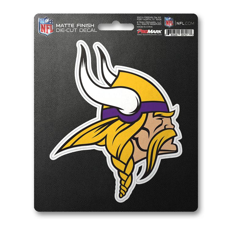 Minnesota Vikings Decal 8x8 Die Cut Matte Special Order
