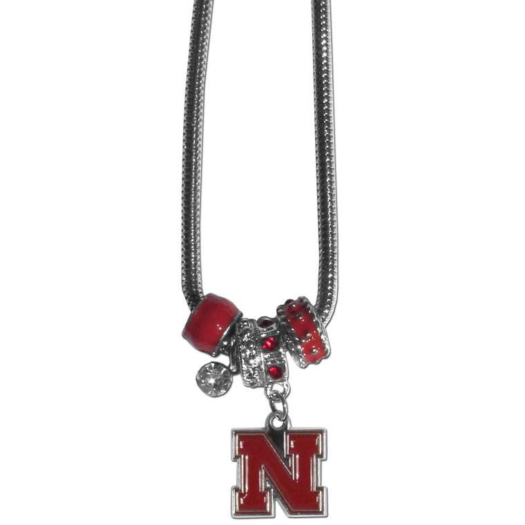 Nebraska Cornhuskers Necklace Euro Bead Style Special Order