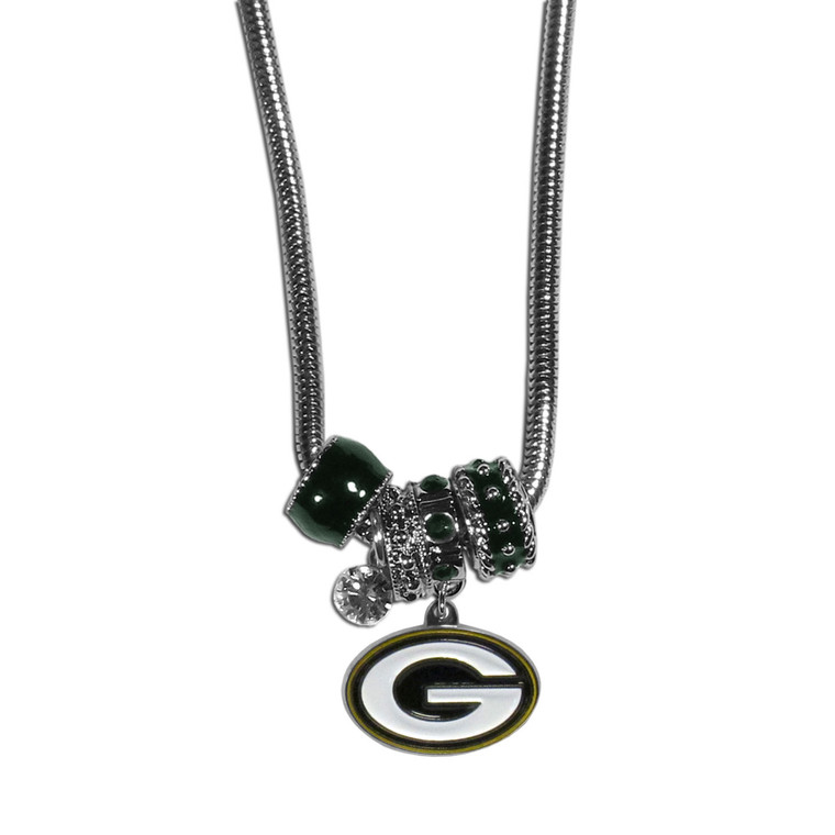 Green Bay Packers Necklace Euro Bead Style Special Order