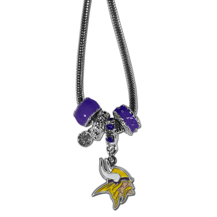 Minnesota Vikings Necklace Euro Bead Style Special Order