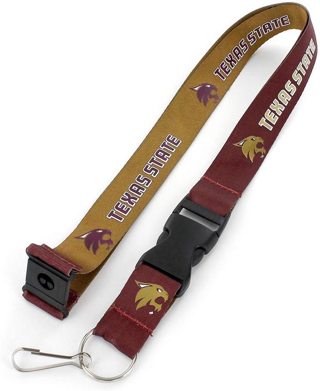 Texas State Bobcats Lanyard Reversible Special Order