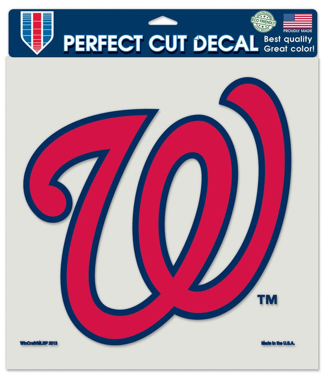 Washington Nationals Decal 8x8 Perfect Cut Color Special Order