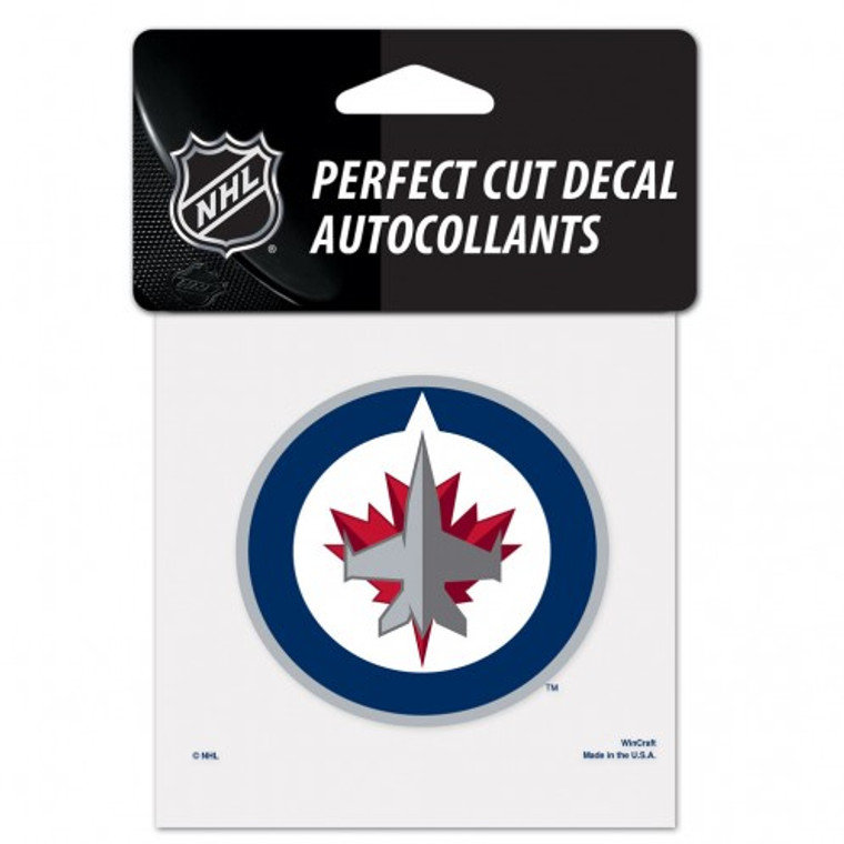 Winnipeg Jets Decal 4x4 Perfect Cut Color Special Order