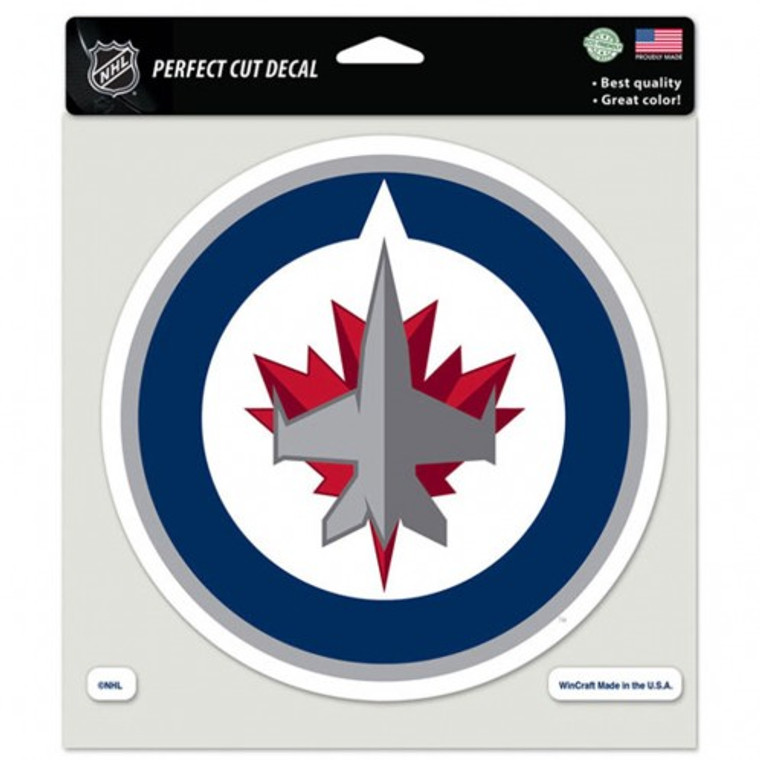 Winnipeg Jets Decal 8x8 Perfect Cut Color Special Order