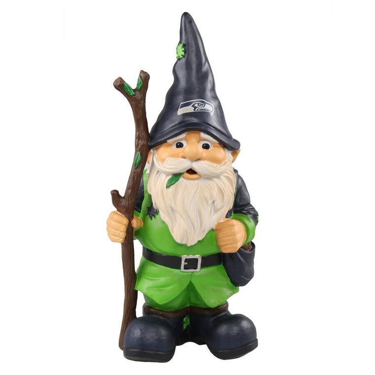 Seattle Seahawks Gnome Holding Stick