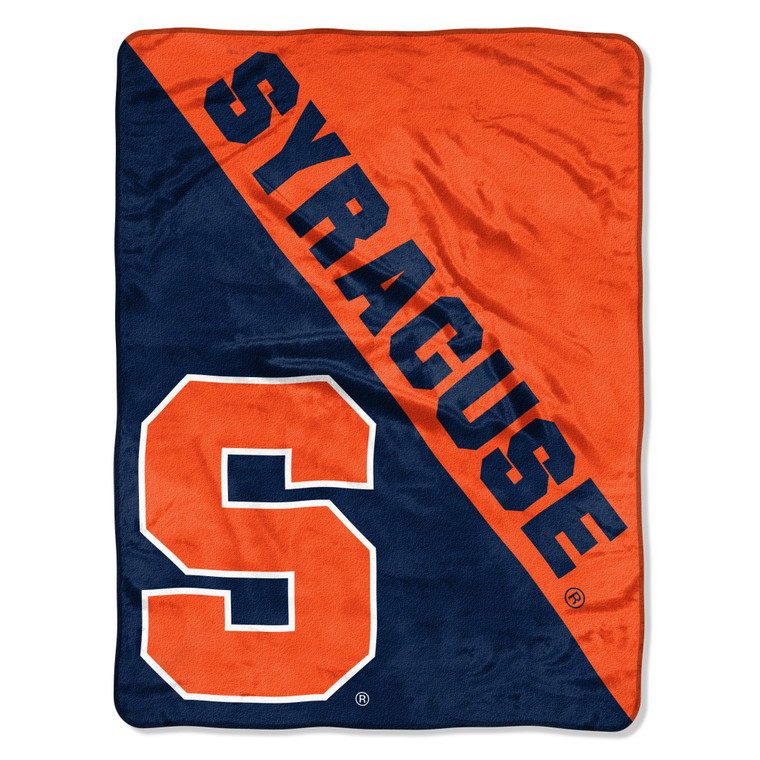 Syracuse Orange Blanket 46x60 Micro Raschel Halftone Design Rolled