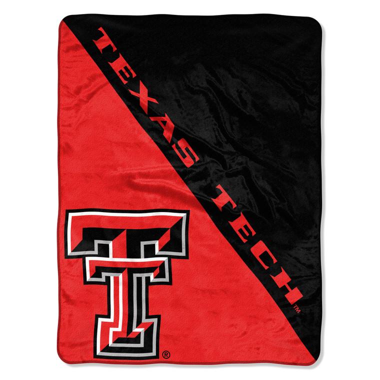 Texas Tech Red Raiders Blanket 46x60 Micro Raschel Halftone Design Rolled