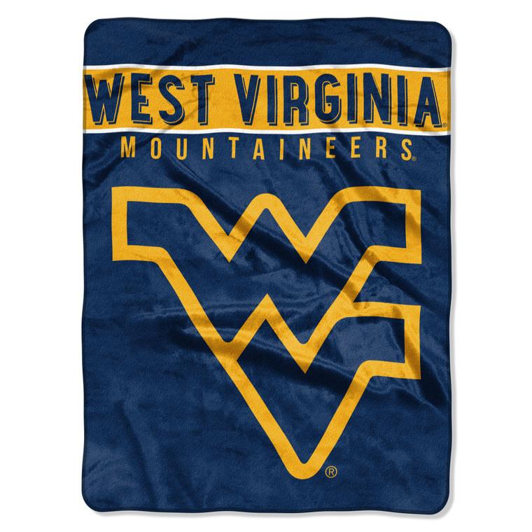 West Virginia Mountaineers Blanket 60x80 Raschel Basic Design