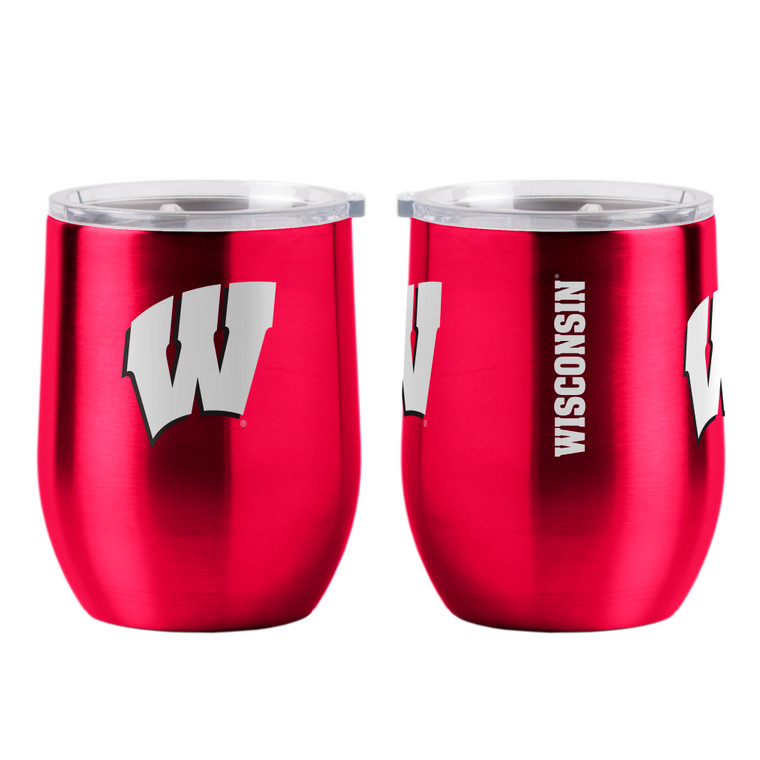 Wisconsin Badgers Travel Tumbler 16oz Ultra Curved Beverage