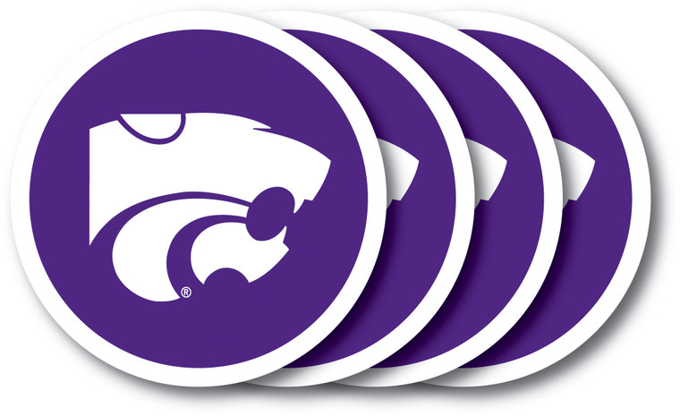 Kansas State Wildcats Coaster Set 4 Pack Special Order