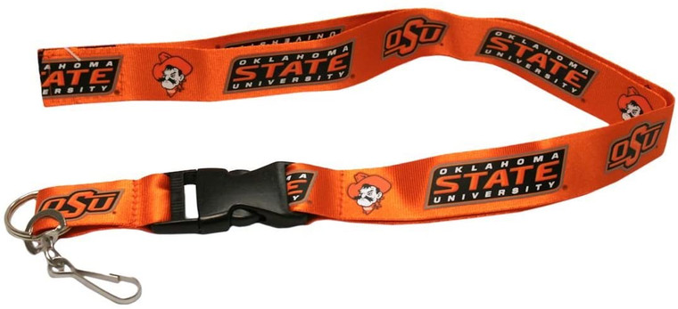 Oklahoma State Cowboys Lanyard Breakaway with Key Ring Style Special Order
