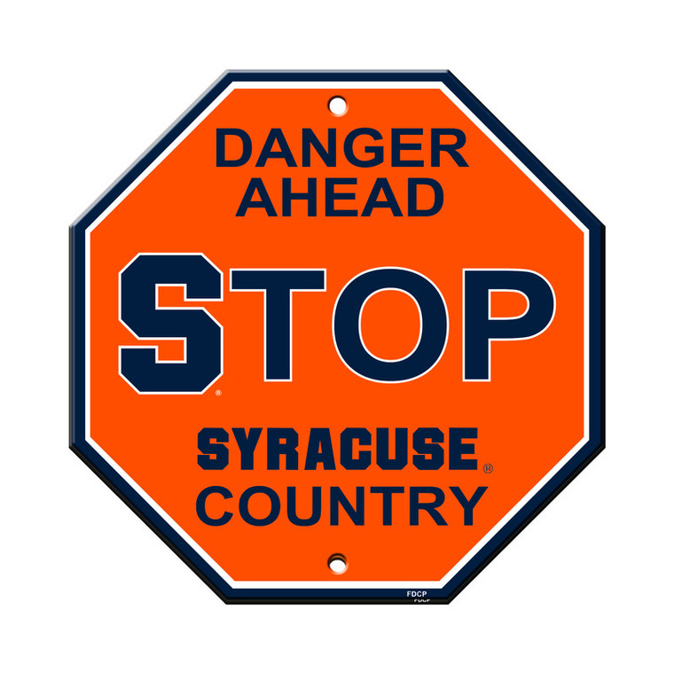 Syracuse Orange Sign 12x12 Plastic Stop Style Special Order