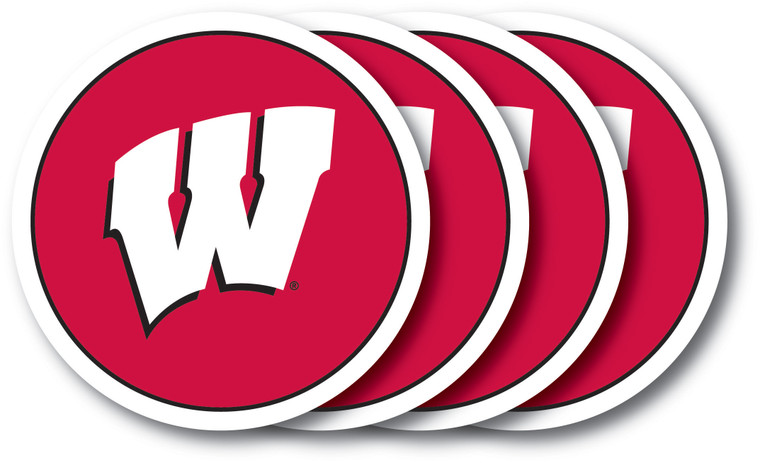 Wisconsin Badgers Coaster Set 4 Pack Special Order