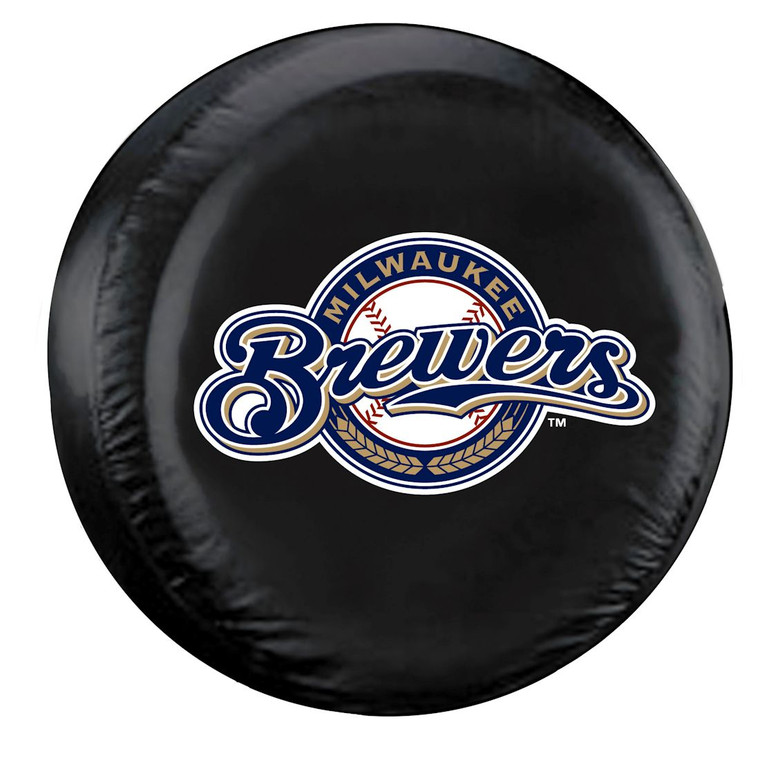 Milwaukee Brewers Tire Cover Standard Size Black Special Order