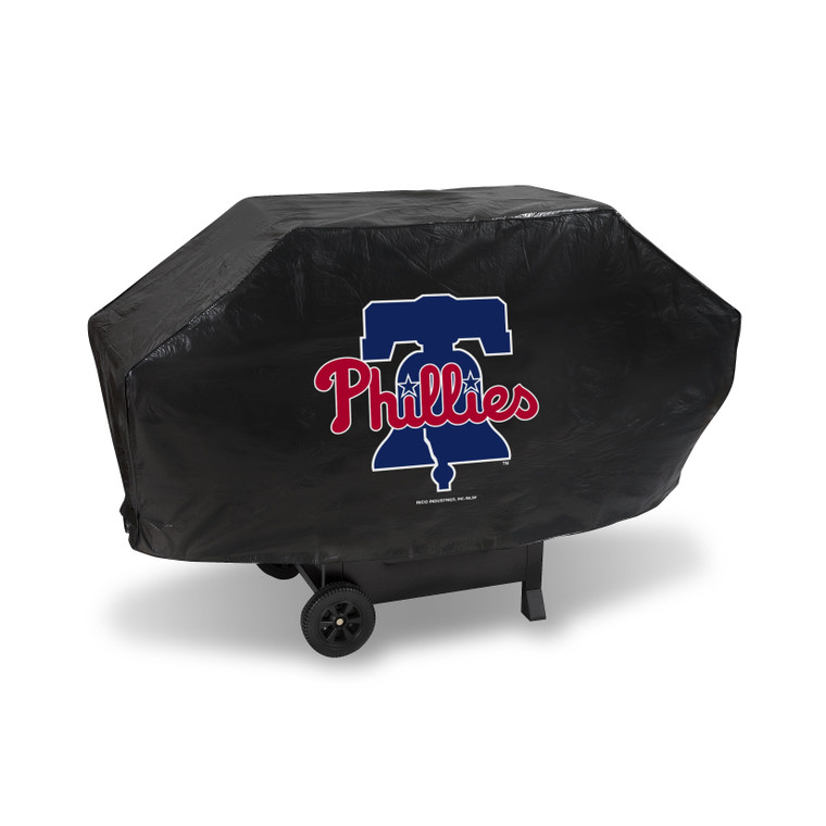 """Show your favorite team and protect your barbeque grill at the same time! The cover is made of .10 mil thick heavy duty vinyl and features your favorite team's logo. Will fit most grills up to 68"""" wide, 35"""" high and 21"""" deep. There is a hook and loop velcro closure at the bottom for a secure fit. Made by Rico."""