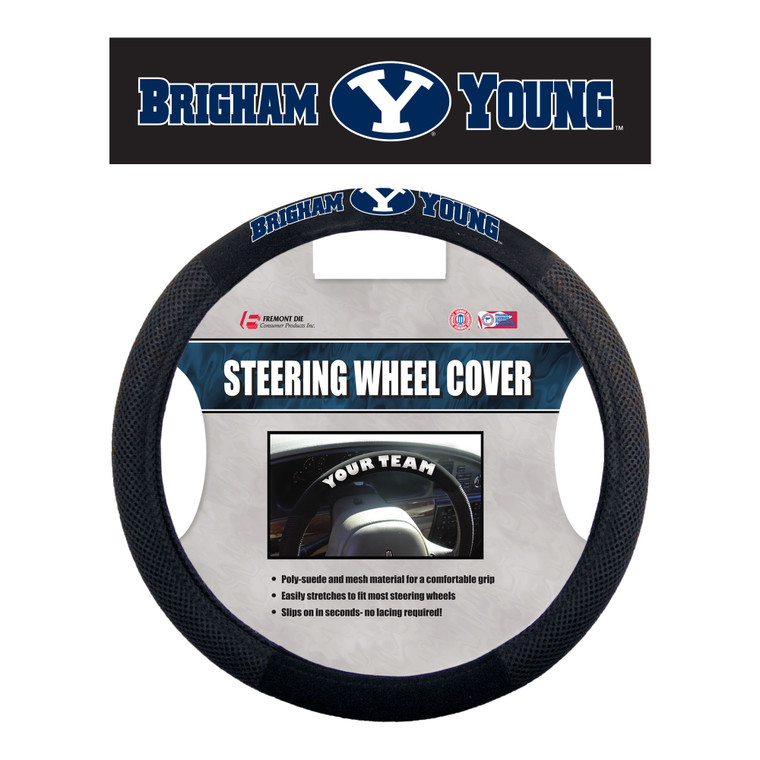 BYU Cougars Steering Wheel Cover Mesh Style CO