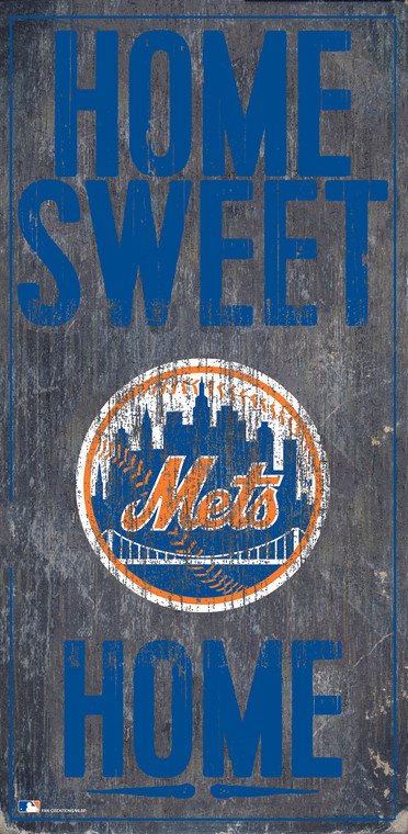 New York Mets Sign Wood 6x12 Home Sweet Home Design