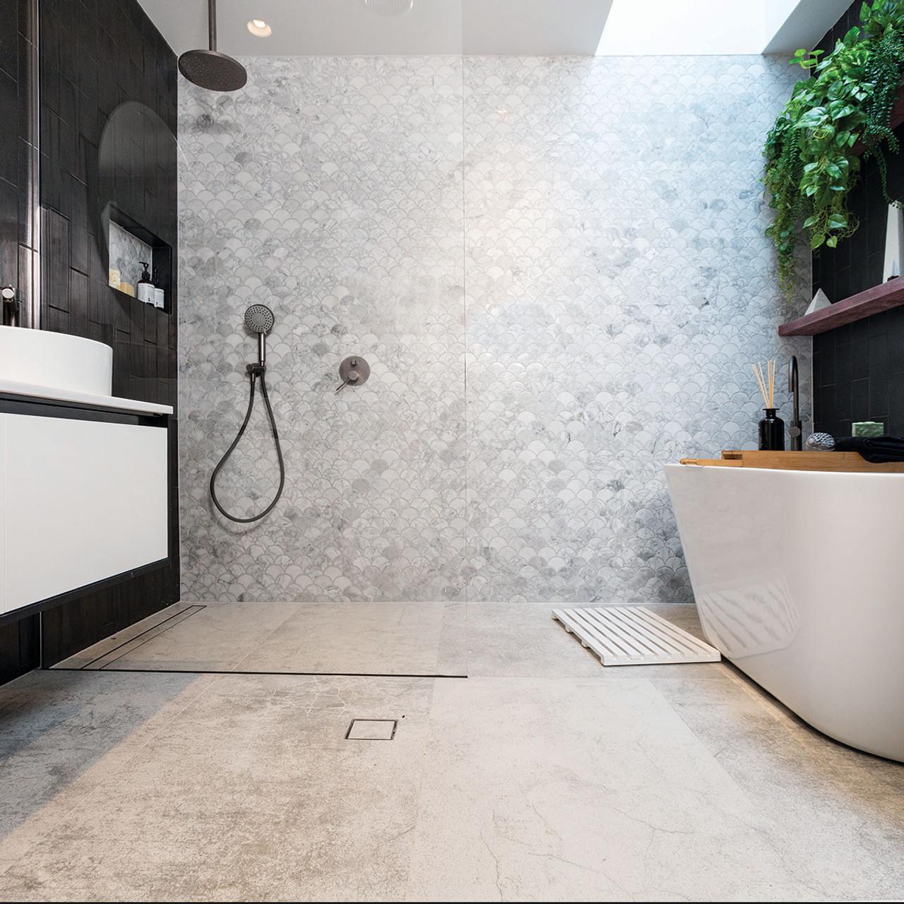 Concrete White 60x120 Tile Space