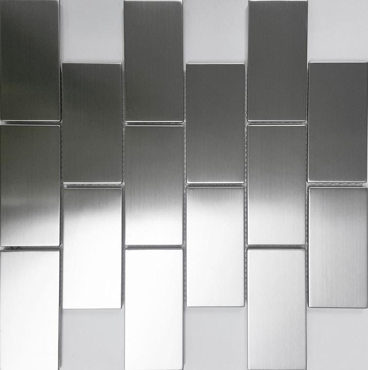 Brushed S/S Brick 50x100 Mos